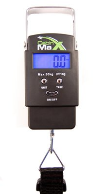 Cabin Max Digital Portable Travel Luggage Scale 2013 50 KG model with batteries from BPS - BackPackingShop