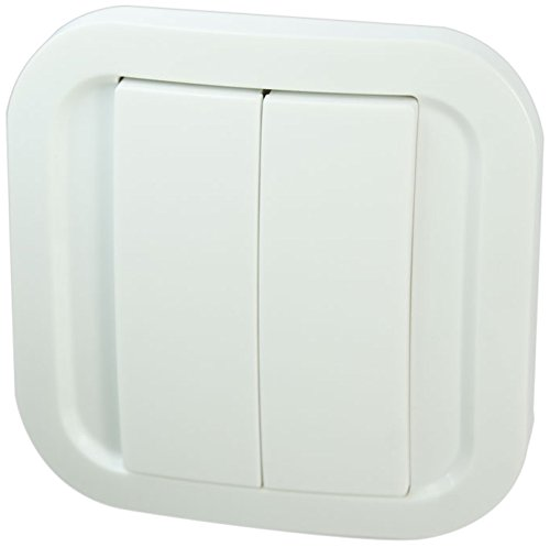 Nod On CWS-2-1-01 EnOcean Wall Switch Interruttore da Parete Wireless, Bianco Leggero