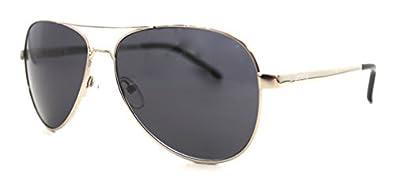 Kenneth Cole Reaction KC 1161 Aviator Sunglasses,Shiny Silver,One Size