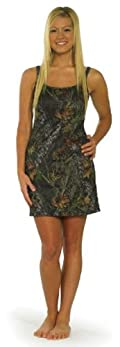 Mossy Oak Dress, Camouflage Juniors Bodycon Camo Tank Dress Swim Cover Up Lounge Gown S-XXL