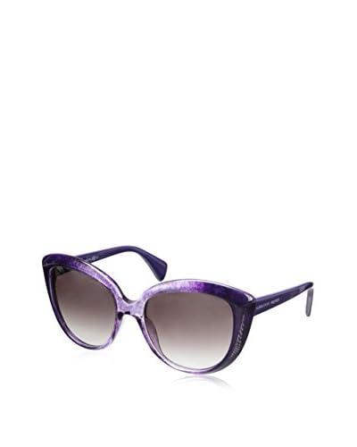 Alexander McQueen Women's AMQ4234/S Dark Purple/Mauve Gradient Sunglasses