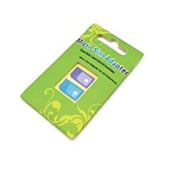 eTECH Microsim Adapter in Retail Package for Ipad Iphone4g Convert Micro Sim to Regular Sim Adapter