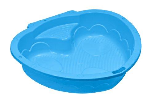 Nueva Plast SB1348 - Sandbox piscina infantil de plástico en forma de corazón, colores surtidos