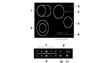 Ceranfeld Kochplatte glaskeramikkochfeld ceran glaskeramik kochfeld 4-zonen-kochfeld