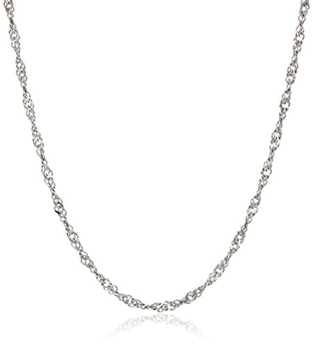 Sterling Silver Italian 1.4 mm Singapore-Chain Necklace