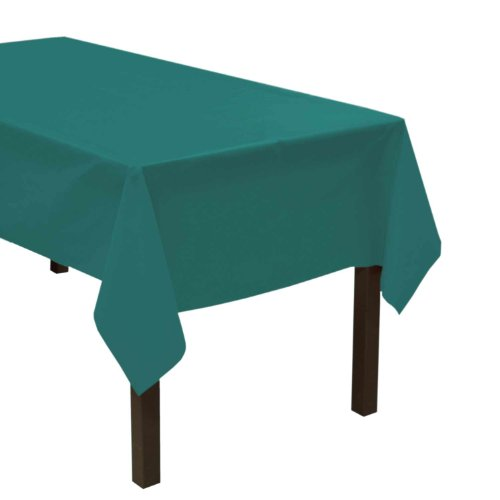 "Party Essentials Heavy Duty Plastic Table Cover, 54 x 108"", Teal"