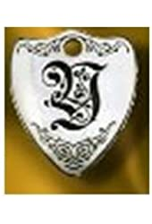 Rockinft Doggie 844587000639 Large Sterling Silver Crest Dog Tag - Letter Y