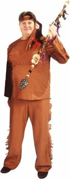 Deluxe Indian Man Costume (Size:Plus 48-52)