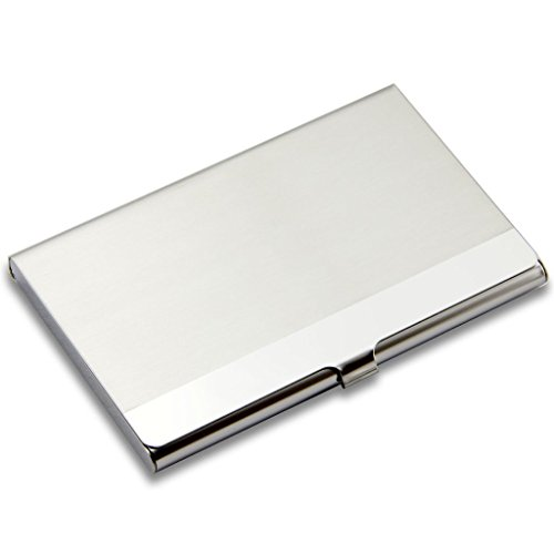 SanHoo Business Card Holder – Professional Stainless Steel Card Holder Keep Business Cards in Immaculate Condition