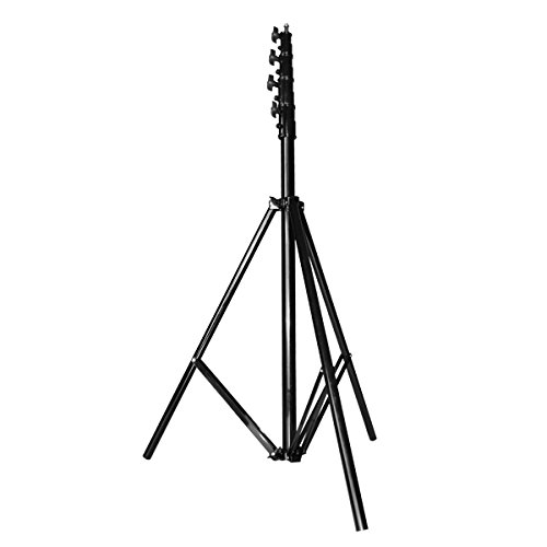 CONDOR stativo pneumatico PROFESSIONALE a 4 sezioni in alluminio nero 95-380cm