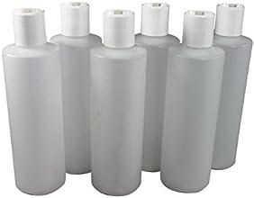 8 Oz Plastic Squeeze Bottles with Disc Top Flip Cap Set of 6 Empty