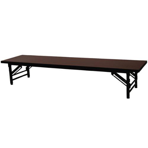 エイ・アイ・エス(AIS) 会議テーブルロータイプ(幅180奥行き45) ブラウン KA-1845S(BR)