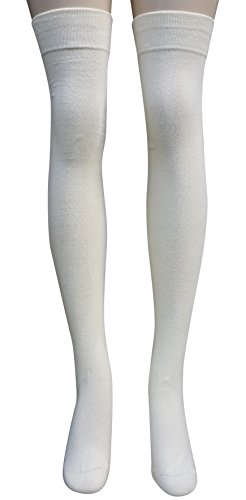 AM Landen® Ladies's Combed Cotton Thigh High Socks Sexy and Elegant!