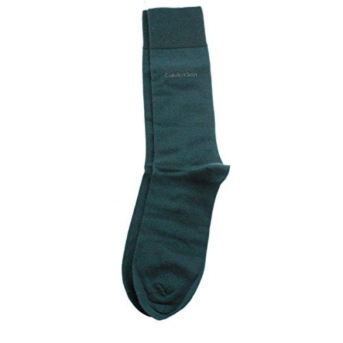 Calvin Klein Men's Fine Egyptian Cotton Socks, Dragonfly Teal