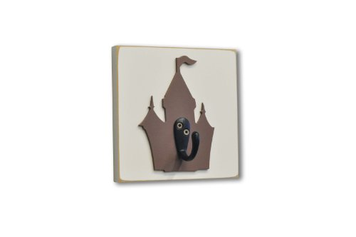 Homeworks Etc Castle Single Wall Hook, Brown