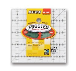 Olfa Frosted Ruler 4.5 x 4.5 Inch Ruler