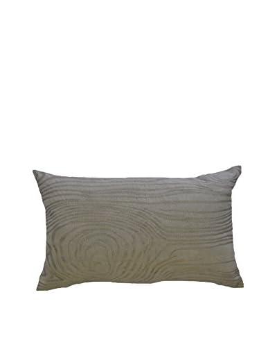 Wood Grain Rectangular Pillow, Grey