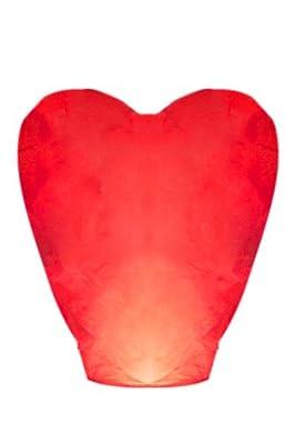 Night Sky Lanterns Red Premium Heart Shaped Sky Lantern from Night Sky Lanterns