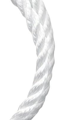 Koch 5211235 3/8 by 50-Feet Nylon Twisted 3 Strand Rope, White by Koch Industries