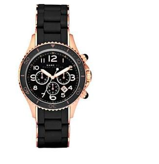 Marc Jacobs Pelly Chronograph Black Dial Rose