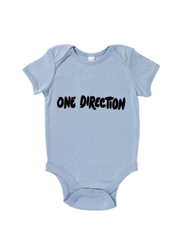 Blue Ivory One Direction Baby Grow Music Inspired Novelty front-885544