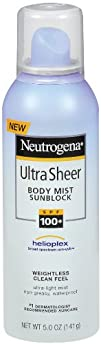 Neutrogena Ultra Sheer Body Mist Sunscreen SPF 100 5 fl oz