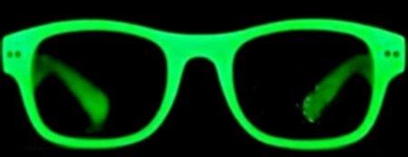 Wayfarer Glow In The Dark Party Sun-Glasses Retro New
