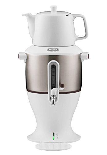 Mulex 290085 Tee Samowar 3 Liter, weiß