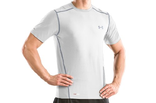 Men's HeatGear® Fitted Shortsleeve Crew Tops by Under Armour