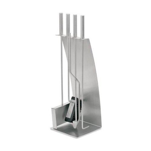 Chimo Fireplace Set - 5 Piece Stainless Steel