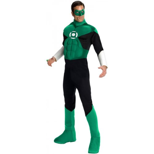 Deluxe Muscle Chest Green Lantern Costume - Large - Chest Size 42-44