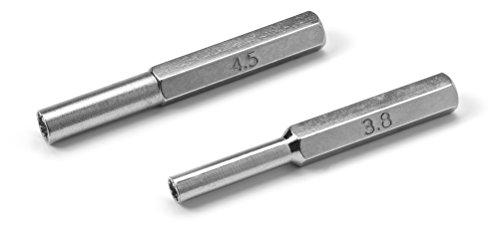 Security Bit Steel SET 3.8mm + 4.5mm Security Bit Screwdriver Tool (7cm Length) Open NES SNES N64 Super Nintendo 64 Cartridges & Systems