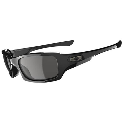 Oakley Fives Squared Sunglasses Polished Black/Grey, One Size