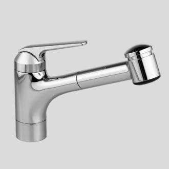 KWC 10.061.032.127 DOMO Single-Lever Pull Out Kitchen Faucet, Splendure Stainless Steel
