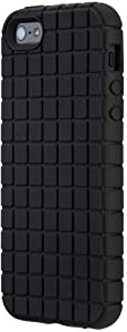 Speck Products PixelSkin Rubberized Case for iPhone 5 & 5S - Retail Packaging - Black