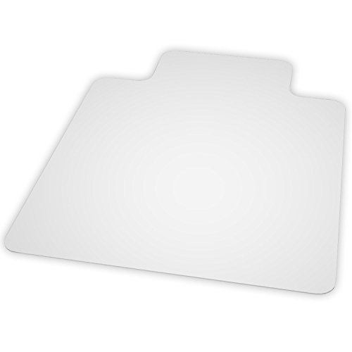 ES Robbins EverLife Hard Floor Lipped Vinyl Chair Mat, 45 by 53-Inch, Clear
