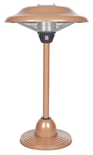 Fire Sense Copper Finish Table Top Round Halogen Patio Heater (Halogen Outdoor Heater compare prices)