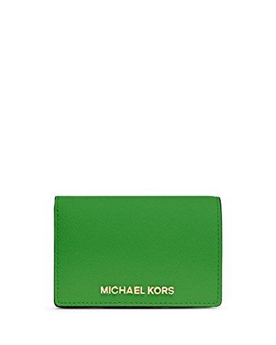 Michael Kors Jet Set Travel Slim Wallet Leather Palm (Green)