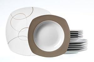 Ritzenhoff Breker 595208 Alina Marron Service De Table 12 Pi Ces Cuisine Maison