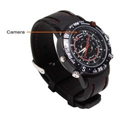 New Zmodo Surveillance Waterproof Spy Watch Hidden Camera DVR 1/4inch CMOS 4GB USB Audio Retail