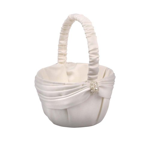 Jamie Lynn Wedding Accessories Charming Pearls, Flower Girl Basket, Ivory