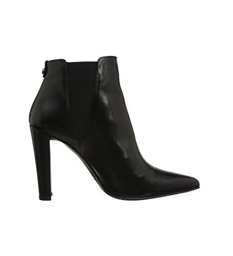 Stuart Weitzman Womens Apogee Nappa Black Leather Ankle Boots