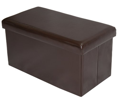 Home Source Industries 12584 Large Folding Ottoman With Storage, Coffee front-925552