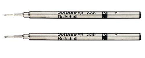 Pelikan 338 Lot de 2 recharges pour stylo roller Pointe fine