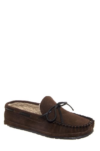 Minnetonka Men's Casey Slipper Moccasin Flat Shoe