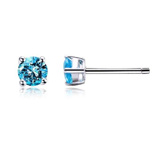 pendientes-cubic-zirconia-lago-azul-4mm-plata-de-ley-925