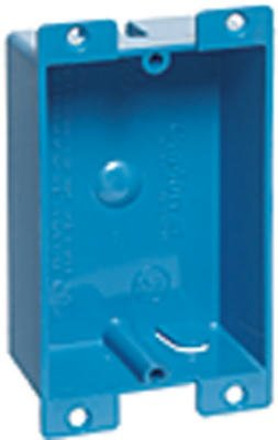 "Carlon Shallow Outlet Box 8.0 Cu In 3-5/8 "" Hx2-3/8 "" Wx1-1/4 "" D Pvc 1 Gang Bulk"