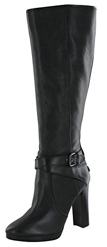 Coach Angelina Women's Stacked Heel Tall Leather Boots