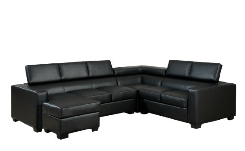 Fabulous Furniture Of America Eros Bonded Leather Match Sectional Inzonedesignstudio Interior Chair Design Inzonedesignstudiocom