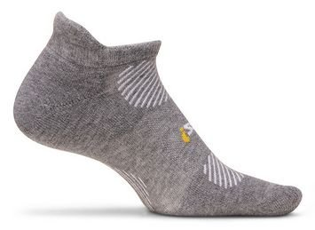 Feetures! High Performance Light Cushion No Show Tab Sock Heather Gray, M Heather Gray, M